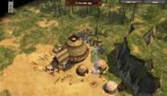 Destroying war hut