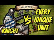KNIGHT vs EVERY UNIQUE UNIT - AoE II- Definitive Edition