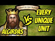 ALGIRDAS vs EVERY UNIQUE UNIT - AoE II- Definitive Edition