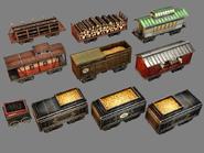 Train Cars model