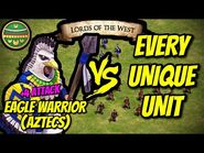ELITE EAGLE WARRIOR (Aztecs) vs EVERY UNIQUE UNIT - AoE II- Definitive Edition