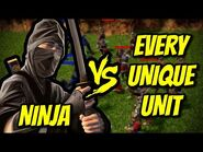 NINJA vs EVERY UNIQUE UNIT - AoE 3- Definitive Edition