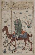 Camel-rider-spearing-Snake