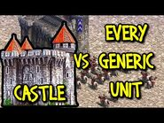 CASTLE vs EVERY GENERIC UNIT - AoE II- Definitive Edition