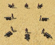 Eight cetbang cannons