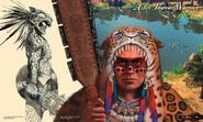 Aztec Jaguar Warrior Art