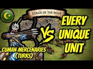 CUMAN MERCENARIES (Turks) vs EVERY UNIQUE UNIT - AoE II- Definitive Edition
