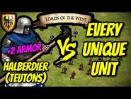 HALBERDIER (Teutons) vs EVERY UNIQUE UNIT - AoE II- Definitive Edition