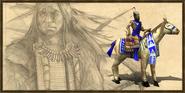 Lakota axe rider history portrait
