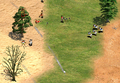 Throwing Axeman Attacking