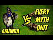 AMANRA vs EVERY MYTH UNIT - Age of Mythology