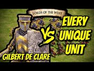 GILBERT DE CLARE vs EVERY UNIQUE UNIT - AoE II- Definitive Edition