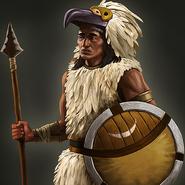 Aztec eagle warrior portrait aoe3de