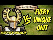 ULRICH VON JUNGINGEN vs EVERY UNIQUE UNIT - AoE II- Definitive Edition