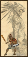 Aztec Jaguar Warrior history portrait