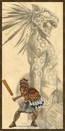 Aztec Jaguar Warrior history portrait