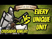 CRUSADER KNIGHT vs EVERY UNIQUE UNIT - AoE II- Definitive Edition