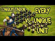 ELITE CONQUISTADOR vs EVERY UNIQUE UNIT - AoE II- Definitive Edition