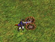 Heavy horse gun bombard mode