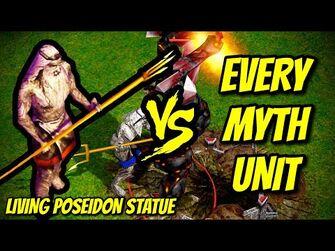 LIVING_POSEIDON_STATUE_vs_EVERY_MYTH_UNIT_-_Age_of_Mythology