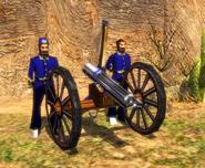 The Gatling Gun in Limber mode