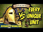 BERNARD D'ARMAGNAC vs EVERY UNIQUE UNIT - AoE II- Definitive Edition