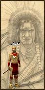 Cherokee rifleman history portrait