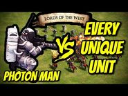 PHOTON MAN vs EVERY UNIQUE UNIT (Lords of the West) - AoE II- Definitive Edition