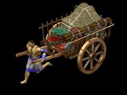Native american trade cart render