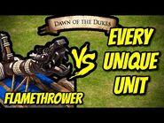 FLAMETHROWER vs EVERY UNIQUE UNIT - AoE II- Definitive Edition