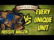 ELITE HUSSITE WAGON vs EVERY UNIQUE UNIT - AoE II- Definitive Edition