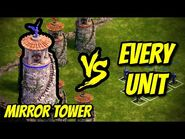 MIRROR TOWER vs EVERY UNIT - Age of Empires- Definitive Edition