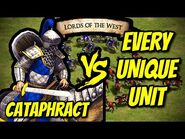 ELITE CATAPHRACT vs EVERY UNIQUE UNIT (Lords of the West) - AoE II- Definitive Edition