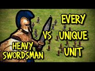 HEAVY SWORDSMAN vs EVERY UNIQUE UNIT - AoE II- Definitive Edition
