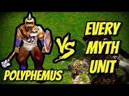 POLYPHEMUS vs EVERY MYTH UNIT - Age of Mythology