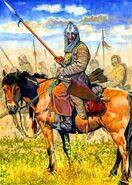 Artistic Crimean-Tatar lancer