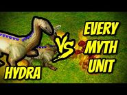 HYDRA vs EVERY MYTH UNIT - Age of Mythology