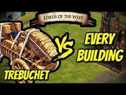 TREBUCHET vs EVERY BUILDING - AoE II- Definitive Edition
