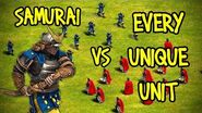 ELITE SAMURAI vs EVERY UNIQUE UNIT AoE II Definitive Edition