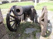 Swedish 18th century 6 pound cannon front