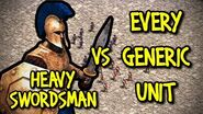 HEAVY SWORDSMAN vs EVERY GENERIC UNIT AoE II Definitive Edition