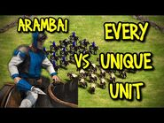 ELITE ARAMBAI vs EVERY UNIQUE UNIT - AoE II- Definitive Edition