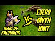 HERO OF RAGNAROK vs EVERY MYTH UNIT - AoE II- Definitive Edition