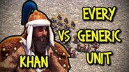 KHAN vs EVERY GENERIC UNIT AoE II Definitive Edition