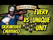 ELITE SKIRMISHER (Mayans) vs EVERY UNIQUE UNIT - AoE II- Definitive Edition