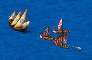 Caravel vs Longboats