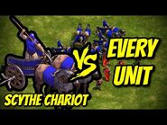 SCYTHE CHARIOT vs EVERY UNIT - Age of Empires- Definitive Edition