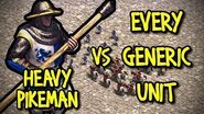HEAVY PIKEMAN vs EVERY GENERIC UNIT AoE II Definitive Edition