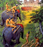 Khmer-Mounted-Elephant-archer