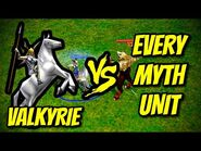 VALKYRIE vs EVERY MYTH UNIT - Age of Mythology